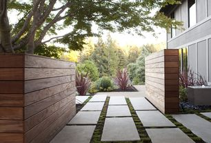 Contemporary Landscape/Yard with Pathway, Fountain, exterior tile floors