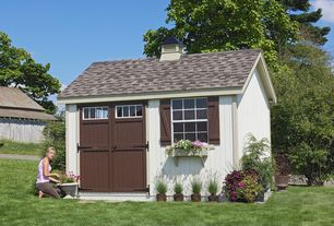 Country Landscape/Yard with Garden shed, Sheds unlimited premier