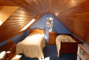 room with Beadboard ceiling, Skylights, Wall decal, Paint