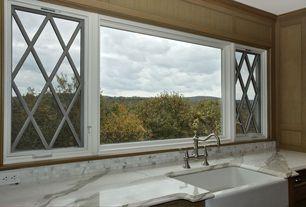 Country Kitchen with KOHLER-Whitehaven Undermount Cast Iron 29-11/16x21-9/16x9-5/8 0-Hole Single Bowl Kitchen Sink in Whi