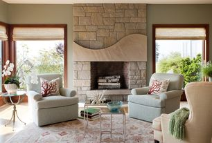 """Contemporary Living Room with Loloi - stanley st-08 beige area rug 9'8"""" x 12'8"""", Bassett custom classics chair"""