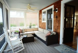 Cottage Porch with Dixie seating adult indoor/outdoor rocking chair, Sunset west cardiff sectional with cushions