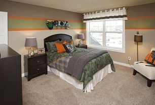 Traditional Kids Bedroom with Standard height, Carpet, no bedroom feature, double-hung window