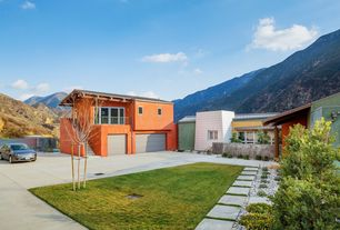 Contemporary Garage with Standard height, Concrete tile