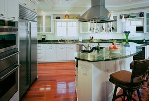 Traditional Kitchen with High Gloss Brazilian Cherry 10 mm Thick x 5 in. Wide x 47-3/4 in. Length Laminate Flooring, L-shaped