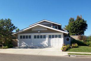 Craftsman Garage with Concrete floors, Standard height, six panel door, Casement