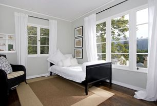Traditional Guest Bedroom with Crown molding, Bamboo floors