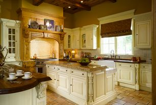 Traditional Kitchen with Solistone Hand Made Terra Cotta Rectangulo 6 in. x 12 in. Floor and Wall Tile, Custom hood
