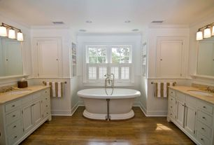 Traditional Full Bathroom with Tropical Flooring Smokey Champagne  Engineered Barn Plank Oak Flooring, Laminate floors