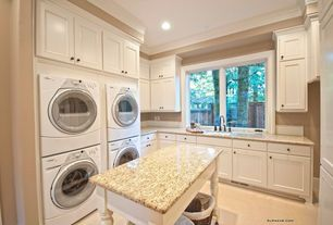 Traditional Laundry Room with Home Decorators Collection Coventry Pacific White, Paint 2, Paint 1, Casement, Crown molding