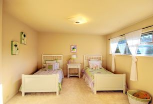 Country Kids Bedroom with Standard height, Casement, no bedroom feature, Carpet, can lights