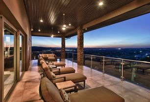 Contemporary Deck with Pathway, exterior stone floors