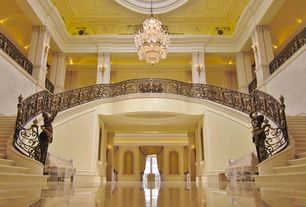 Traditional Staircase with specialty window, Crown molding, Cathedral ceiling, Wall sconce, Stair railing designs isr101