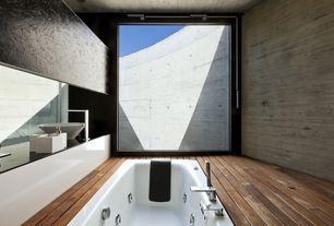 "Modern Master Bathroom with Slate counters, Master bathroom, Concrete wall, Eros 32"" x 60"" Whirlpool Bathtub (Miami Series)"