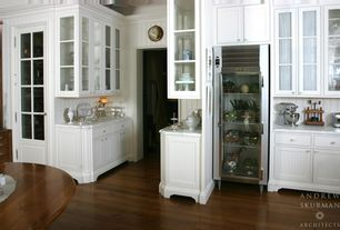 Country Kitchen with Paint1, Pental white carrara polished marble, True T-23G Glass Door Refrigerator