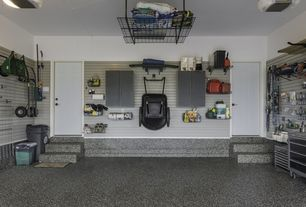 Traditional Garage with Concrete floors, Gladiator premier series 30 in. steel 2-door wall gearbox cabinet in white, Paint