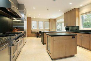 Contemporary Kitchen with Window seat, Soapstone, Undermount sink, U-shaped, Flush, European Cabinets, Soapstone counters