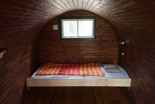Eclectic Guest Bedroom with Vintage couture chaparral handscraped engineered hardwood, Hardwood floors