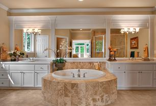 Traditional Master Bathroom with Durasupreme Cabinets - Arcadia Style Panel, Inset cabinets, Raised panel, Master bathroom