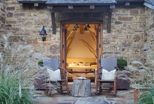 Country Patio with exterior stone floors