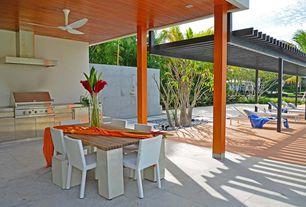 Contemporary Porch with Gazebo, exterior stone floors, exterior concrete tile floors, Outdoor kitchen, exterior tile floors