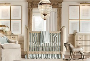 Traditional Kids Bedroom with bedroom reading light, Restoration hardware 19th c. french empire crystal chandelier 18""