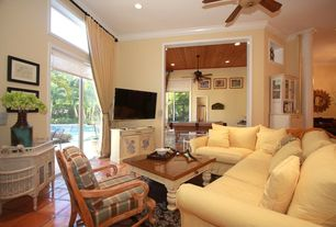 Country Tan Living Room Terracotta Tile Floors Zillow Digs