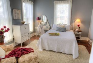 Traditional Guest Bedroom with Hardwood floors