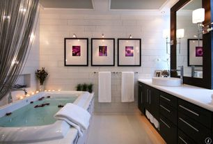 Modern Master Bathroom with Vessel sink, European Cabinets, Scarabeo by Nameeks Geo Above Counter Bathroom Sink, Box ceiling