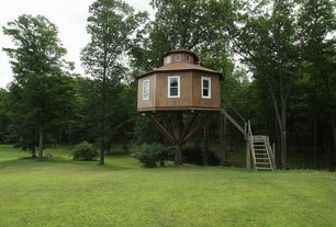 Traditional Playroom with double-hung window, Standard height, Treehouse