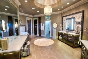 Traditional Master Bathroom with Arteries Home Fossil Shell Sculpture, Paint 1, Arteries Home - Tilda Chandelier