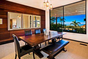 Modern Dining Room with Pendant light, Carpet