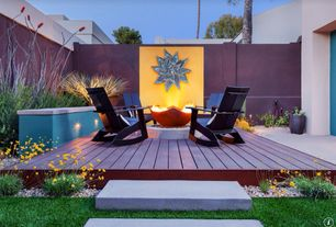 Eclectic Patio with Pathway, Emmett rocker, Fire pit, Fence