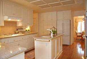 Traditional Kitchen with Simple Granite, Hardwood floors, flush light, UltraCraft Destiny Boston Cabinetry, U-shaped, Paint1