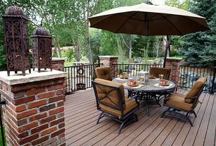 Traditional Deck with Fence, Pathway