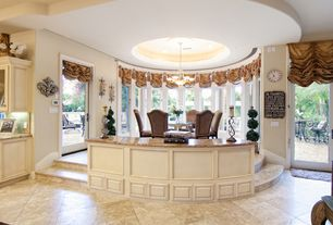 Traditional Dining Room with Wildon Home  Randall Parson Chair II, Chandelier, French doors, Durango Antique