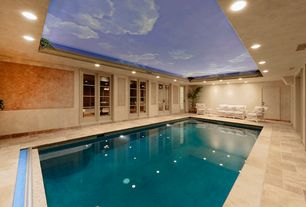 Contemporary Swimming Pool with Pathway, Indoor pool, French doors, exterior stone floors, Paint 2, sliding glass door, Paint