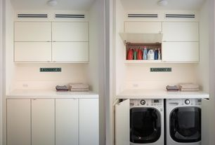 Contemporary Laundry Room with Maytag, maxima, front-load washer w/ advanced vibration control bundle, Undermount sink