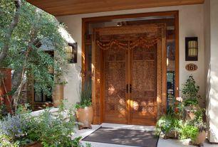 Asian Front Door with exterior tile floors