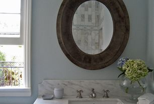 Traditional Full Bathroom with Marble vanity top