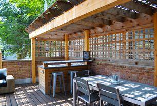 Modern Deck with Carlisle metal counter stool - set of 2, Monterey estate lattice, Trellis, Pathway, Fence