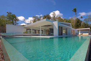Modern Swimming Pool with Infinity pool, Fountain
