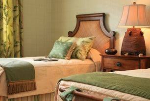 Traditional Guest Bedroom with Carpet, Standard height, Built-in bookshelf
