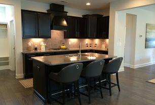 Contemporary Kitchen with PentalQuartz Altea Quartz, Breakfast bar, Simple granite counters, Stone Tile, Inset cabinets