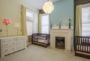 Modern Kids Bedroom with double-hung window, Paint, Ikea smila bloomma wall lamp pink, Transom window, Paint 2, Fireplace