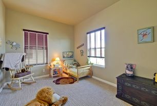 Traditional Kids Bedroom with Carpet, double-hung window, Standard height, no bedroom feature