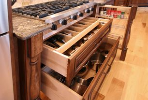 Traditional Kitchen with Maple - Natural 5 in. Engineered Hardwood Wide Plank