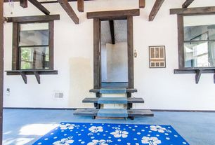 Craftsman Staircase with Exposed beam, Carpet