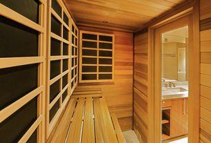 Contemporary Master Bathroom with Custom sauna