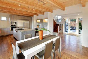 Great Room with Hardwood floors, flush light, Exposed beam, Standard height
